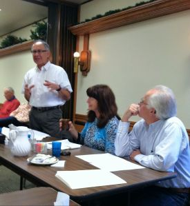 Joe Quiroz, Lora Davidson and David Kellogg Present Information on HB 68 at the February 13, 2013 meeting of LEADER Corp.